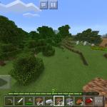 【夫婦でマイクラPE】序盤を効率的に!簡易植林場と簡易の畑を作ります。【No.2】