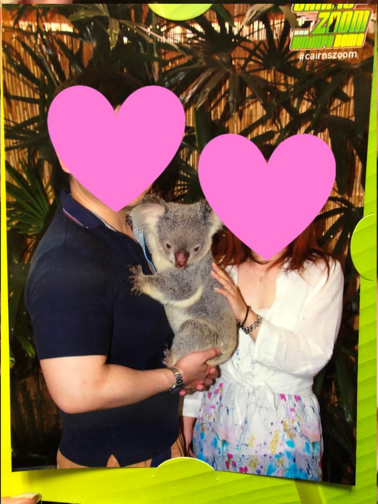 ケアンズでコアラを抱っこ