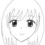 イラストの特訓その2「顔の描き方!正面の顔」