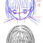 イラストの特訓その6「顔の描き方・アオリ・フカン」
