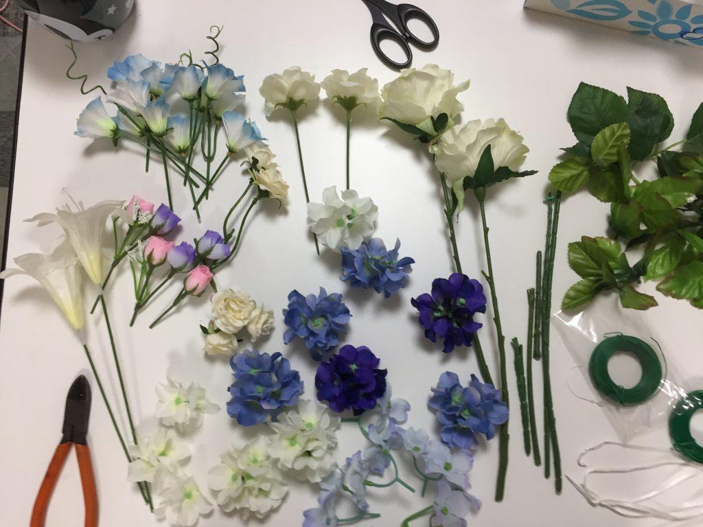 造花をバラす